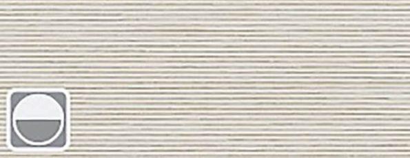 Rolgordijn Deluxe - Classic Grey - 72.1629 - gebroken wit met lichtbruine horizontale weving transparant - PG 3 - Max breedte: 2390 mm - Max hoogte: 4000 mm - 100% PES - 186 g/m