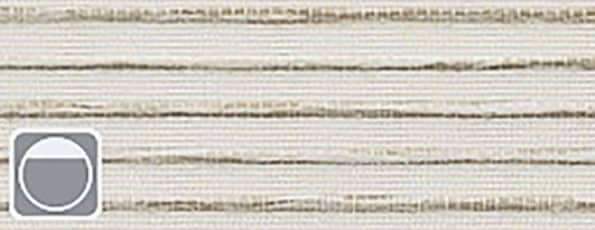 Rolgordijn Deluxe - Majestic silver 72.1633 - gebroken wit met taupe weving verduisterend - PG 5 - Max breedte: 2340 mm - Max hoogte: 3800 mm - 100% PES - 305 g/m